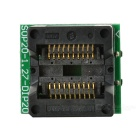 SOP20 to DIP20 Programmer Adapter Test Socket - Green + Black