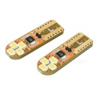 T10 0.2W LED Car License Plate Light / Reading Lamp Cool White 6500K 30lm (DC 12V / 2PCS)