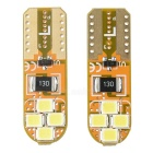 T10 0.2W LED Car License Plate Light Lamp Cold White 6500K 30lm (2PCS)