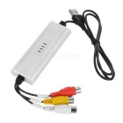 USB Audio Video Capture Card for Linux, Windows + More - White + Black