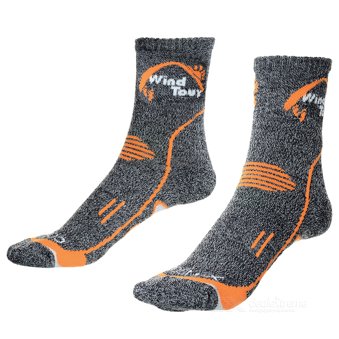 Wind Tour Unisex Thickened Hiking Cycling Sports Socks - Grey