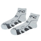 Wind Tour Unisex Thickened Hiking Cycling Sports Socks - Grey + Black