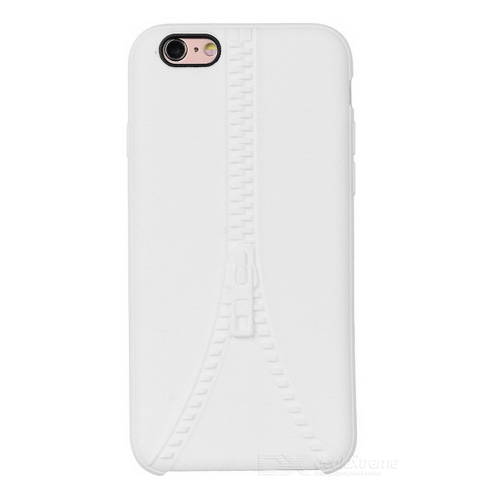 Zipper Pattern Protective Back Case Cover for IPHONE 6 / 6S - White