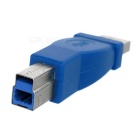 High Quality USB 3.0 A Female to B Male Adapter - Blue + Silver