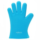 Hugmania-Extra Thick Silicone Barbecue Glove Waterproof Durable Protection Oven Gloves - Blue