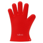 Hugmania G00356 Extra Thick Silicone Waterproof Durable Heat Insulation Oven Glove - Red