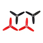 3-Blade CW & CCW Main Blades Propellers Set for Parrot Bebop Drone 3.0 - Black + Red