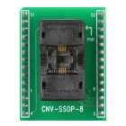 CNV-SSOP-8 IC Programmer Adapter Socket - Black + Green