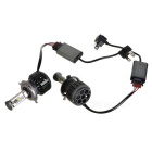 Duplex H4 V16 40W LED White Light Car Headlamp w/ Decoder (2PCS)