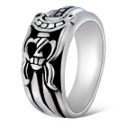 Xinguang Men's Vintage Engraved Sword Style Ring - Silver (US Size 9)