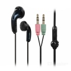 SENICC In-Ear Wired Stereo Earphone w/ Microphone - Black