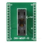 CNV-MSOP-10 MSOP10 to DIP10 Programmer Adapter Socket - Black + Green