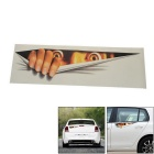 13cm x 41cm Peeping Man Pattern Car Body / Window Sticker - Yellow + White