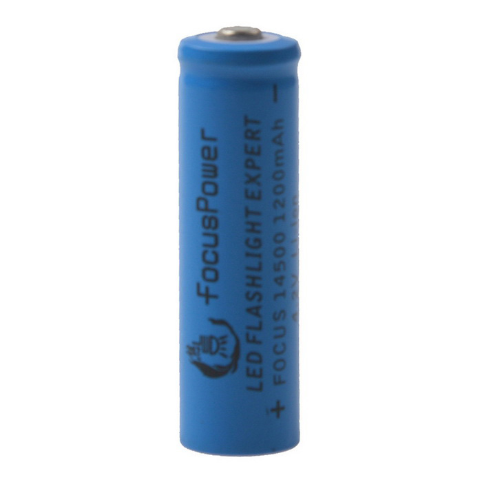FocusPower 3.7V 600mAh Rechargeable Lithium Ion 14500 Battery - Blue