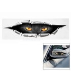 13cm x 41cm Cat Eyes Pattern Car Body / Window Sticker - Black +Grey