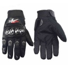 PRO-BIKER Skid-Proof Full Finger Motorcycle Racing Gloves - Black (Pair /XL-Size)