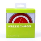 Christmas Pattern Qi Standard Wireless Charger for Smartphones - Red