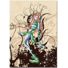 """Bizhen Frame-free Abstract Figure Painting Canvas Wall Decor Murals(23.62"""" x 33.46"""")"""