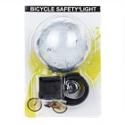 Assento post mount 3-Mode 6-LED luz traseira moto multi-cor - preto