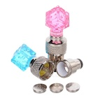 Crystal Style Bike Valve Core Nozzle Warning Lights Blue Light - Pink