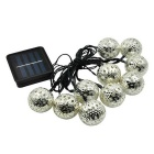 10 LED Solar Fairy Light String Morocco Ball Light for Christmas Decorative (3.35m)