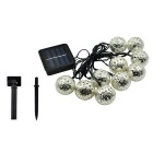 Christmas 10-LED Solar Fairy Light String Morocco Ball Light (3.35m)
