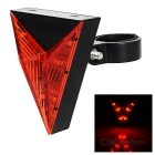 Triangular 15lm Red Light Bike Safety Warning Tail Light Lamp - Red