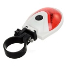 Seat Post Mount 7-Mode 5-LED Red Light Bike Taillight - White + Red
