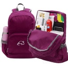 Wind Tour WT051017 Folding Shoulders Bag Backpack - Purple Red(25L)