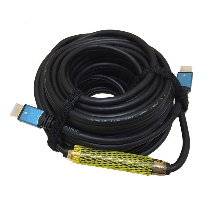 Version 1.4 HD HDMI Male to Male Connection Cable + Amplifier 4K (25m)