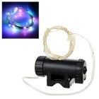 Leadbike Water-Resistant USB Rechargeable Colorful 2-Mode 20-LED Bike Wheel Spoke Light - Black