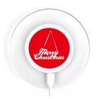 Christmas Designs A9 Qi Standard Wireless Charger for Mobile Phones - Red