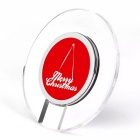 Christmas Design A9 Qi Wireless Charger for Mobile Phones - Red