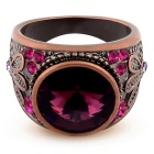 Rose Red Bronze Finger Ring - Bronze + Violet