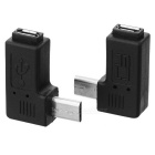 Buy CY U2-267-LE/U2-267-RI 90' Angled Micro USB 2.0 5Pin Connector - Black