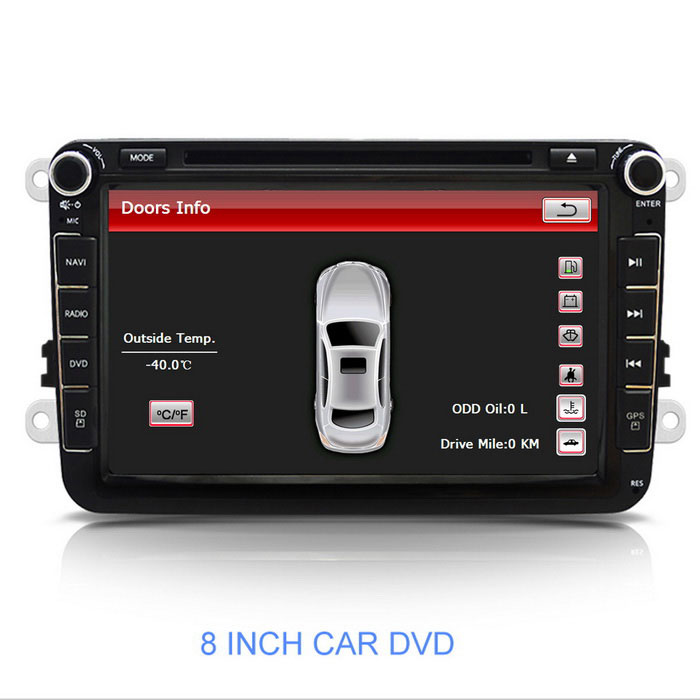 8 Quot Car Dvd Player W Gps Bt Usb For Vw Polo More