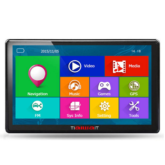 "TiaiwaiT 7"" HD Screen Win CE 6.0 Car GPS Navigator w/ 8GB / RUS Map"
