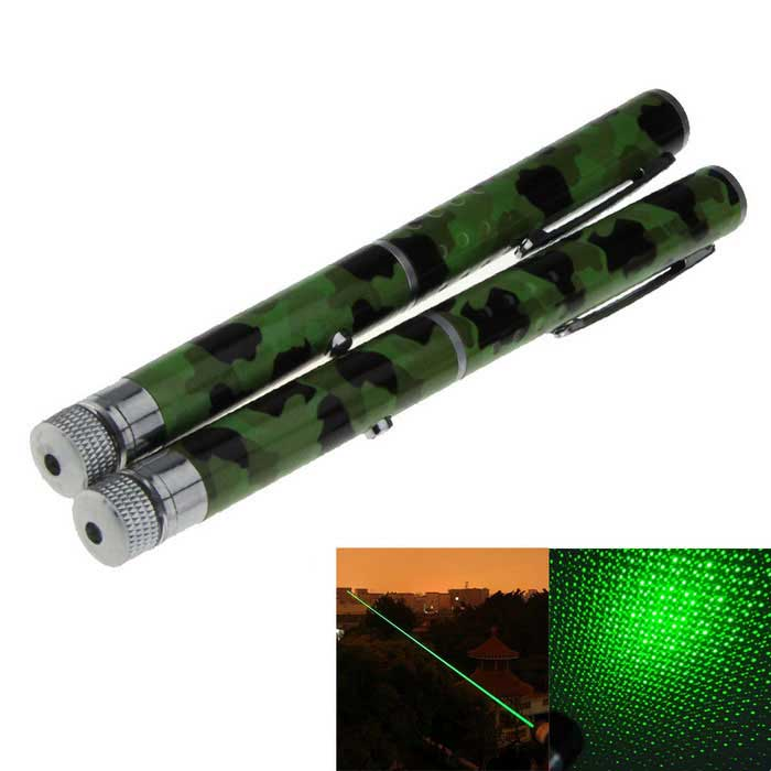 Mini 5mW 532nm Green Laser Pointer Flashlight - Camouflage (2PCS)