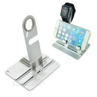 Aluminum Alloy Charging Dock Stand Desktop Mount Holder for Apple Watch / IPHONE / IPAD / Smartphone