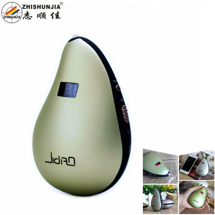 ZHISHUNJIA FWC168 USB Rechargeable 2-Mode Hand Warmer with LED Flashlight Effect - Green