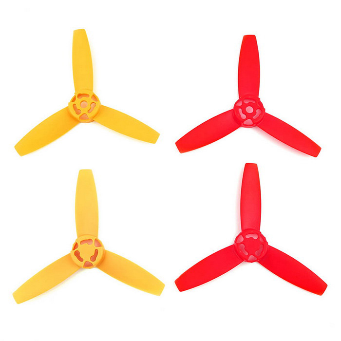3-Blade CW & CCW Hoved Blades Set for Parrot Drone 3.0 - Rød + Gul