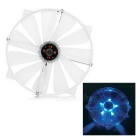 Akasa 22cm Silent LED Computer Case Cooling Fan w/ 4-Pin - Transparent