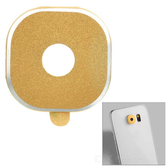 Aluminum Alloy Lens Protector for Samsung Galaxy S6 - Golden