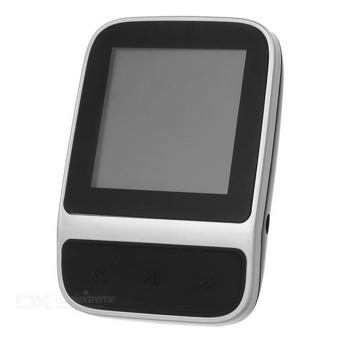1.4 TFT MP3 Player w/ Pedometer / Voice Recorder / FM - Black + Silver (8GB)MP3 Players<br>Form  ColorBlack + SilverBuilt-in Memory / RAM8GBQuantity1 DX.PCM.Model.AttributeModel.UnitMaterialABSShade Of ColorBlackScreen TypeTFTTouch Screen TypeYesScreen Size1.4 DX.PCM.Model.AttributeModel.UnitScreen Resolution128 x 128Screen ColorTrue colorMemory Card TypeNoMax Extended CapacityNoAudio Compression FormatMP3,WMA,Others,APE, FLACVideoAVIRecord Audio FormatMP3, WAV, ACTImagesBMP,JPEGE-bookOthers,YesTuner BandsFMFM Frequency87MHz~108MHzHeadphone Jack3.5mmOther InterfaceMicro USBBattery Capacity170 DX.PCM.Model.AttributeModel.UnitWorking Time12 DX.PCM.Model.AttributeModel.UnitBattery TypeLi-polymer batteryPower Supply5VLoud Speaker Function NoLyrics DisplayYesMenu LanguageEnglish,French,German,Italian,Spanish,Portuguese,Russian,Polish,Danish,Dutch,Arabic,Turkish,Japanese,Bahasa Indonesia,Korean,Thai,Hungarian,Czech,Greek,Romanian,Swedish,Chinese Simplified,Chinese Traditional,HebrewAudio ModeNaturalDisplay ModeMP3Packing List1 x MP3 player1 x Earphone (120+/-2cm-wire)1 x Data cable (18.5+/-2cm)<br>