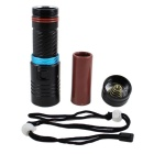 KINFIRE XM-L2 U2 1-LED 900lm IPX8 Diving Flashlight - Black + Blue