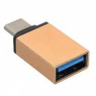 Cwxuan USB 3.1 Type-C Male to USB 3.0 Female OTG Adapter - Gold