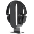 250 * 4mm acrílico elíptico-tipo headphone stand - preto