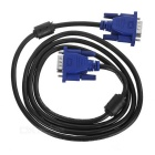 VGA 3+5Pin HD Video Cable w/ 2 Magnetic Rings - Black + Blue (1.32m)
