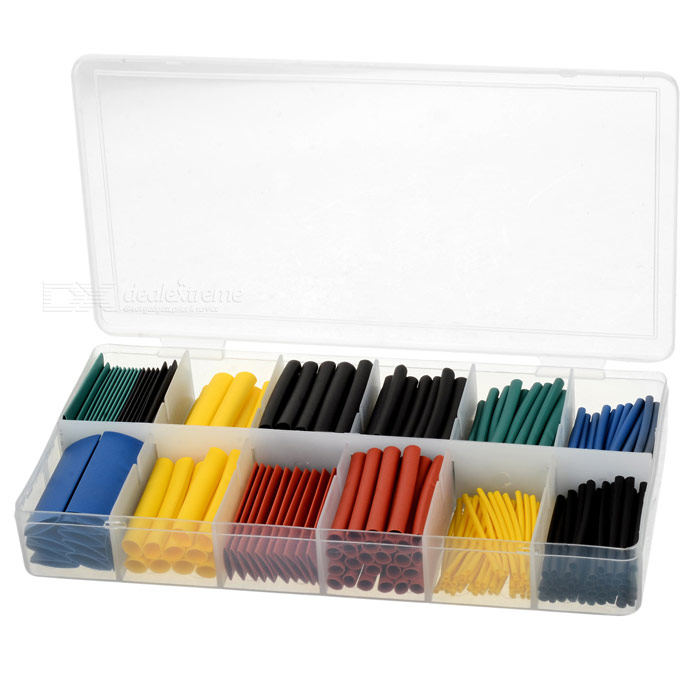 1.0~10.0mm Polyolefin Heat Shrink Tube Sleeve Assortment Set (280PCS)