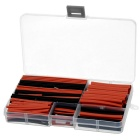 2.0~13.0mm Polyolefin Heat Shrink Tube Tubing Sleeve Assortment Set - Red + Black (150pcs)